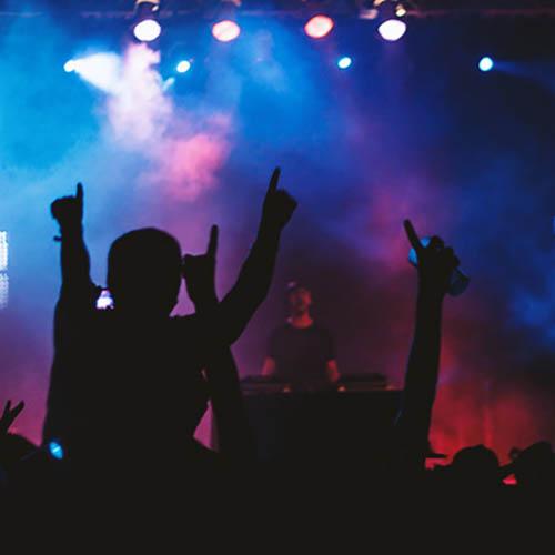 DJ y músicos